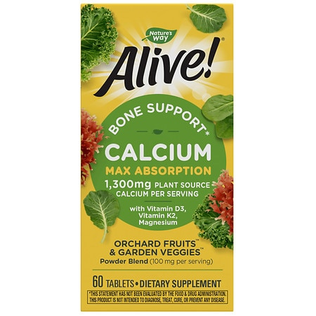 Nature's Way Alive! Calcium Bone Formula, Tablets