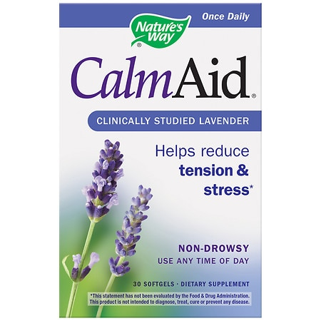 Nature's Way Calm Aid Lavender, Softgels
