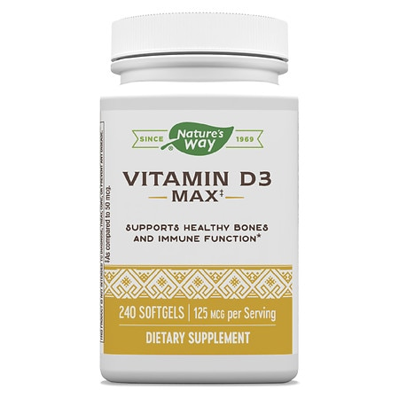 Nature's Way Vitamin D3 5000 IU, Softgels
