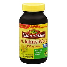 St. John's Wort 450 mg Extract Herbal Supplement Tablets