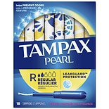 Tampax Pearl Tampons with Pearl Plastic Applicators Fresh Scnet