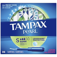 Tampax Pearl Tampons Plastic Applicators Fresh Scnet