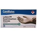 CareMates Latex-Powder Free Examination Gloves Large