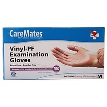 CareMates Vinyl-PF Examination Gloves Medium