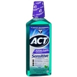 ACT Total Care Anticavity Fluoride Mouthwash Sensitive Formula Mild Mint