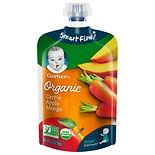 Gerber 2nd Foods Organic Baby Food Pouch Carrots, Apples & Mangoes