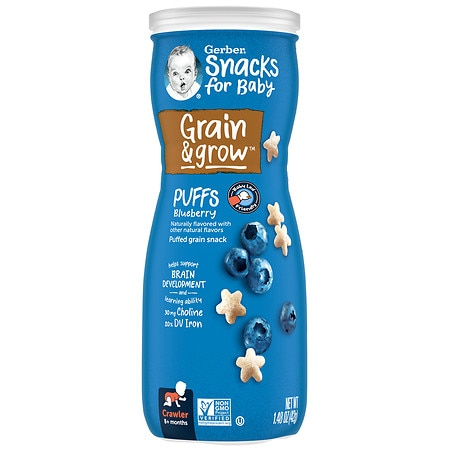 Gerber Graduates Puffs Cereal Snack Blueberry
