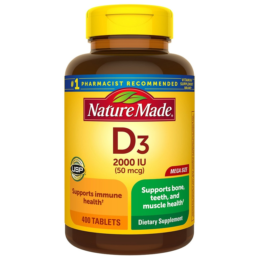 Nature Made Vitamin D3 2000 IU | Walgreens