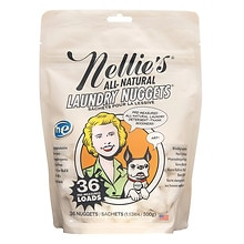 Nellie's All Natural Laundry Nuggets in a Pouch, 36 Loads