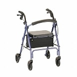 Nova Vibe Rolling Walker with 6-inch Wheels 4236BL Blue