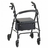 Nova Vibe Rolling Walker with 6-inch Wheels 4206BK Black