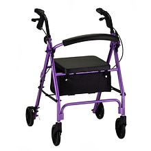 Nova Vibe Rolling Walker with 6-inch Wheels 4236PL Purple