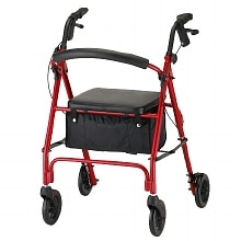Vibe Rolling Walker with 6 inch Wheels 4236RD, Red