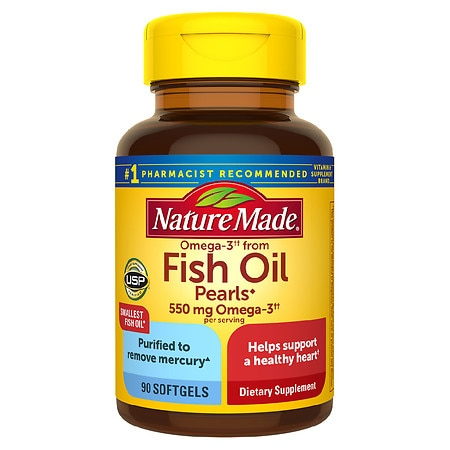 Nature made fish oil pearls walgreens for Nature made fish oil