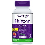 Melatonin 10 mg Dietary Supplement Tablets Fast Dissolve Strawberry