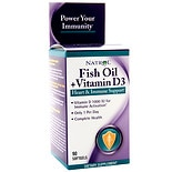 Natrol Fish Oil + Vitamin D3 Dietary Supplement Softgels