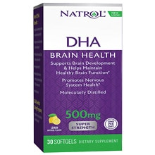 Natrol DHA 500 mg Super Strength Dietary Supplement Softgels