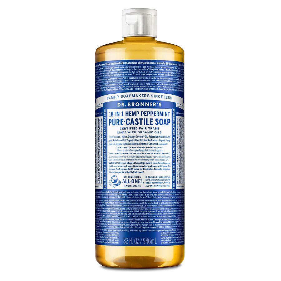 Dr Bronner 39 S Hemp Pure Castile Soap Peppermint Walgreens