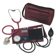 Mabis MatchMates Combination Kit with 3M Littmann Lightweight II S.E. Stethoscope Burgundy