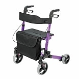 wag-Gateway Ultra-Lightweight Aluminum 4-Wheel RollatorPurple
