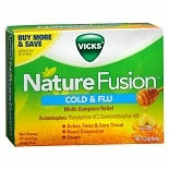 Vicks Nature Fusion Cold & Flu Multi-Symptom Relief Caplets Real Honey