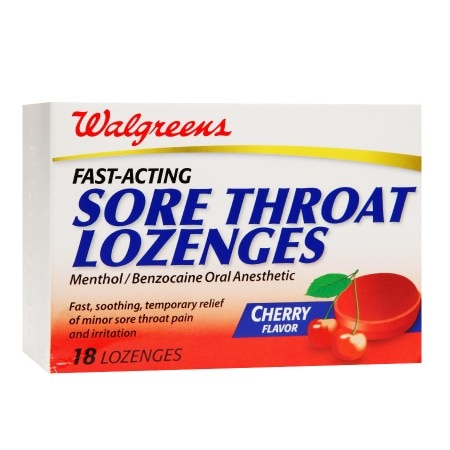 Walgreens Sore Throat Lozenges Cherry