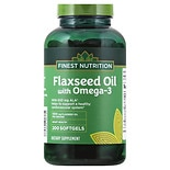 Finest Nutrition Flaxseed Oil 1300 mg Dietary Supplement Softgels