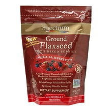 Spectrum Essentials Flaxseed Dietary Supplement Ground with Mixed Berries