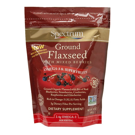 Spectrum Essentials Flaxseed Dietary Supplement Ground
