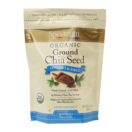Spectrum Essentials Organic Ground Chia Seed Omega-3 & Fiber