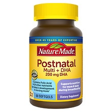 Nature Made Postnatal Multi+DHA 200 mg DHA, Softgels