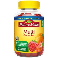 Nature Made Multi Adult Gummies Orange, Cherry & Mixed Berry