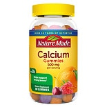 Nature Made Calcium Adult Gummies Cherry, Orange, Strawberry
