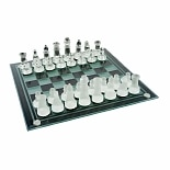 Trademark Games Elegant Glass Chess and Checker Board Set, Ages 7+
