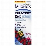 Mucinex Kids Children's Multi-Symptom Cold Very Berry Flavor Liquid