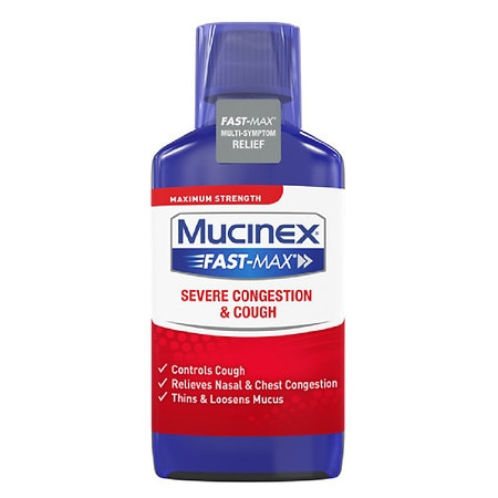 Mucinex Maximum Strength Fast-Max Severe Congestion & Cough, Multi-Symptom