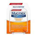 Mucinex Maximum Strength Fast-Max Adult Caplets, Cold & Sinus