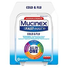 Mucinex Maximum Strength Fast-Max Adult Caplets, Severe Congestion & Cold