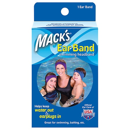 Mack's Ear Band Swimming Headband Blue/ Purple