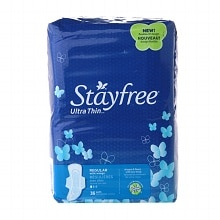 Stayfree Ultra Thin Pads with Wings Regular, 36 ea
