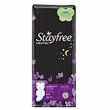 Stayfree Ultra Thin Pads with Wings Overnight, 28 ea