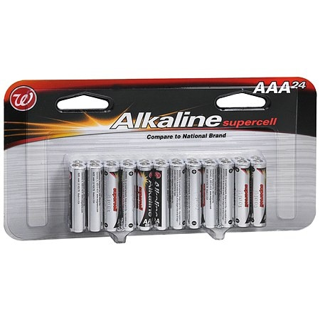 Walgreens Alkaline Supercell Batteries AAA