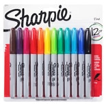 Sharpie Permanent Markers Fine Point Assorted Colors