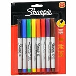Sharpie Permanent Markers Ultra Fine Point Assorted Colors
