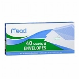 Mead No. 10 Security Envelopes 4 1/8 in x 9 1/2 in (10.4 cm x 24.1 cm)