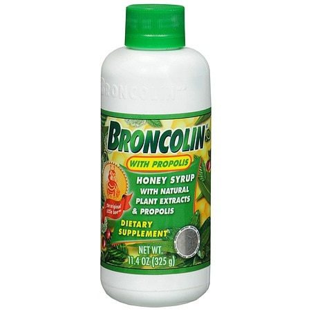 Broncolin Honey Syrup Dietary Supplement with Propolis