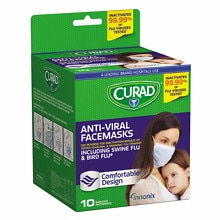 Curad Antiviral Facemasks 10 Masks