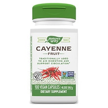 Nature's Way Cayenne 40,000 H.U. Dietary Supplement 450 mg Capsules