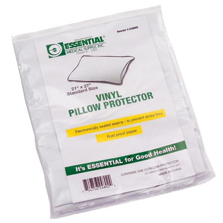 "Essential Medical Standard Size Vinyl Pillow Protector 21"" x 27"""
