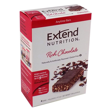 Extend Nutrition Snack Bars Chocolate Delight, 4 pk